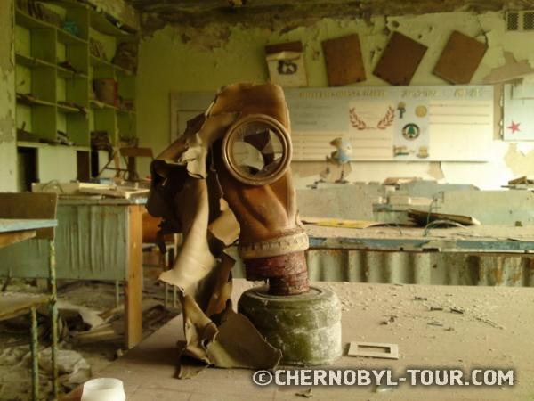 Фото из средней школы №2 в Припяти